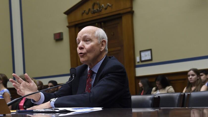 IRS Commissioner John Koskinen testifies on Capitol Hill last year.