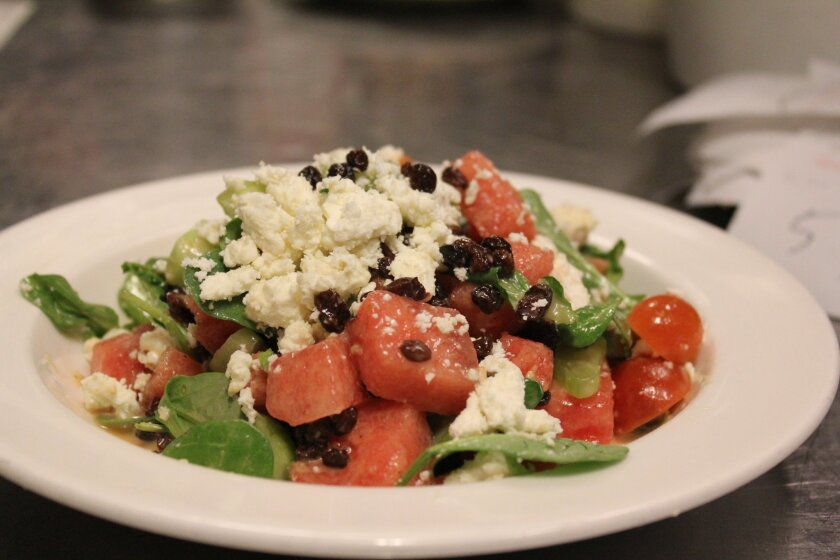 Watermelon-Tomato-Cucumber Salad from Urban Solace.