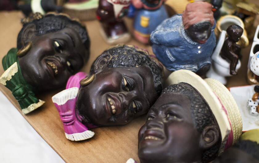 At the heart of Saar's studiosits a collection ofceramic mammies,notorious artifac