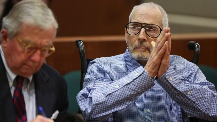 Robert Durst ppearing in the Los Angeles Superior Court Airport Branch for a pre-trial motions