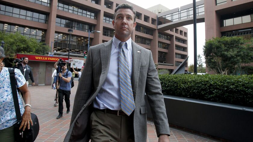 Donors to Rep. Duncan Hunter's legal defense fund include his uncle and defense contractors