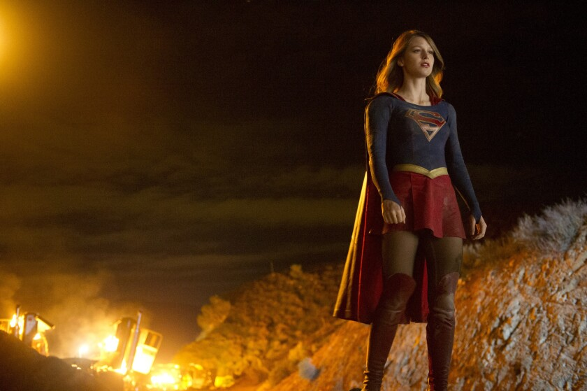 """Melissa Benoist stars as Kara Zor-El / Kara Danvers in """"Supergirl."""" It's a lot living up to fan and network expectations. The occasional on-set nap and Uncrustables snack can help."""