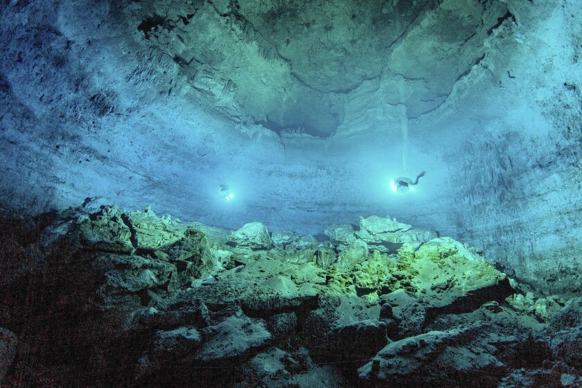 Hoyo Negro cave in Mexico