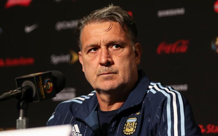 """En la imagen, el director técnico argentino Gerardo """"Tata"""" Martino."""