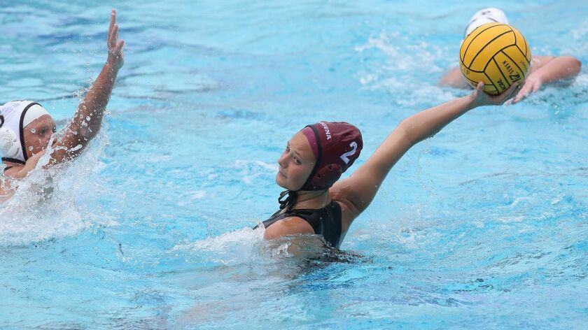 Laguna's Morgan Van Alphen takes a shot and scores during first round of the CIF Southern California