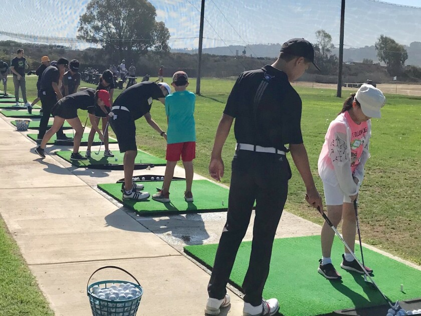 Each student received one-on-one full swing instruction.