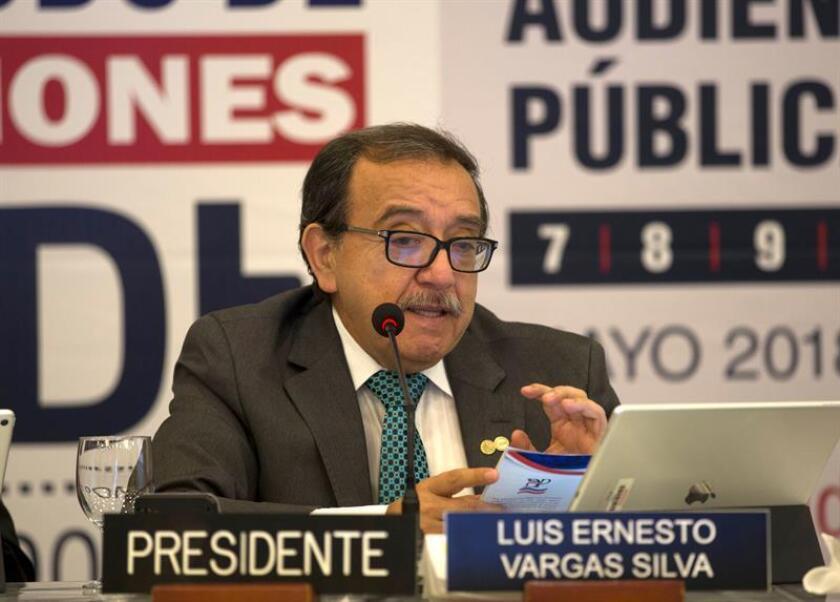 Luis Ernesto Vargas, comisionado de la Comisión Interamericana de Derechos Humanos (CIDH). EFE/Archivo