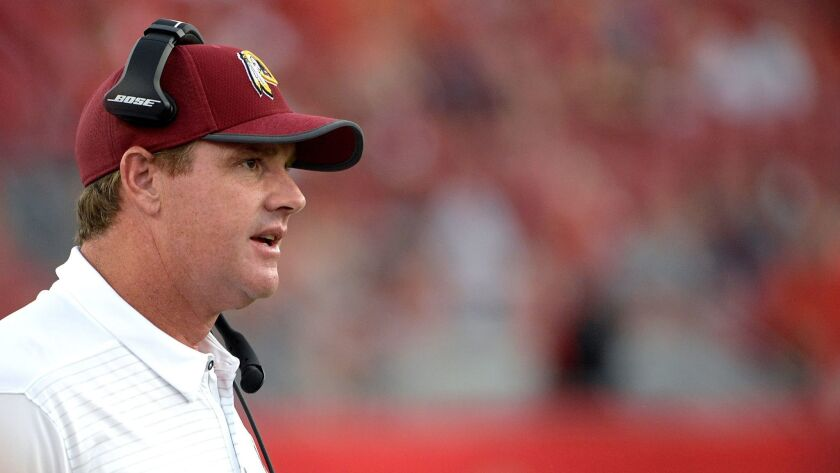 Washington Redskins head coach Jay Gruden.