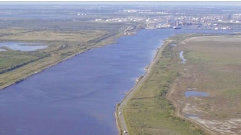 Energy giant Sempra plans to build a liquefied natural gas (LNG) export facility on this site in Port Arthur, Texas. If built, the facility may cost up to $9 billion to construct.