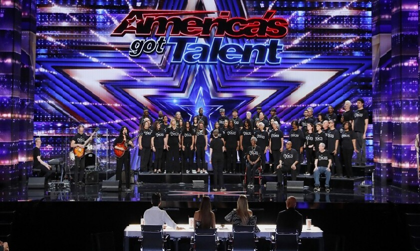 """Members of Voices of Our City Choir, some of whom are in shelters or homeless, will perform Tuesday night on the season premiere of NBC's """"America's Got Talent."""""""