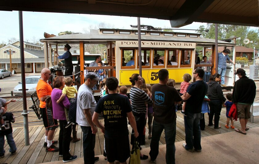 More than 635,000 people have ridden the various trains, trolleys and mine cars in Old Poway Park.