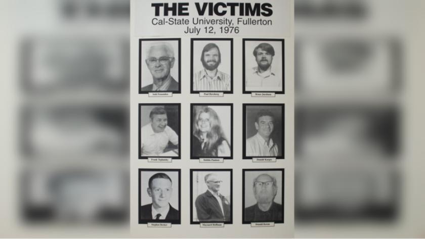 Las nueve víctimas del tiroteo de 1976. Siete de ellas fueron asesinadas. Maynard Hoffman y Donald Keram resultaron heridos durante el tiroteo masivo (Paul Paulsen).
