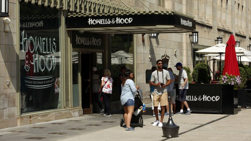 "Howells & Hood, the restaurant on the Tribune Tower's ground floor, is planning to close Sept. 30, 2018, and will lay off 133 employees. Owner Bottleneck Management intends to transfer ""many if not all"" employees to its other restaurants."