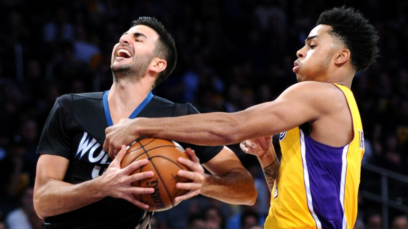 Lakers make quick change, give D'Angelo Russell job of organizing offense