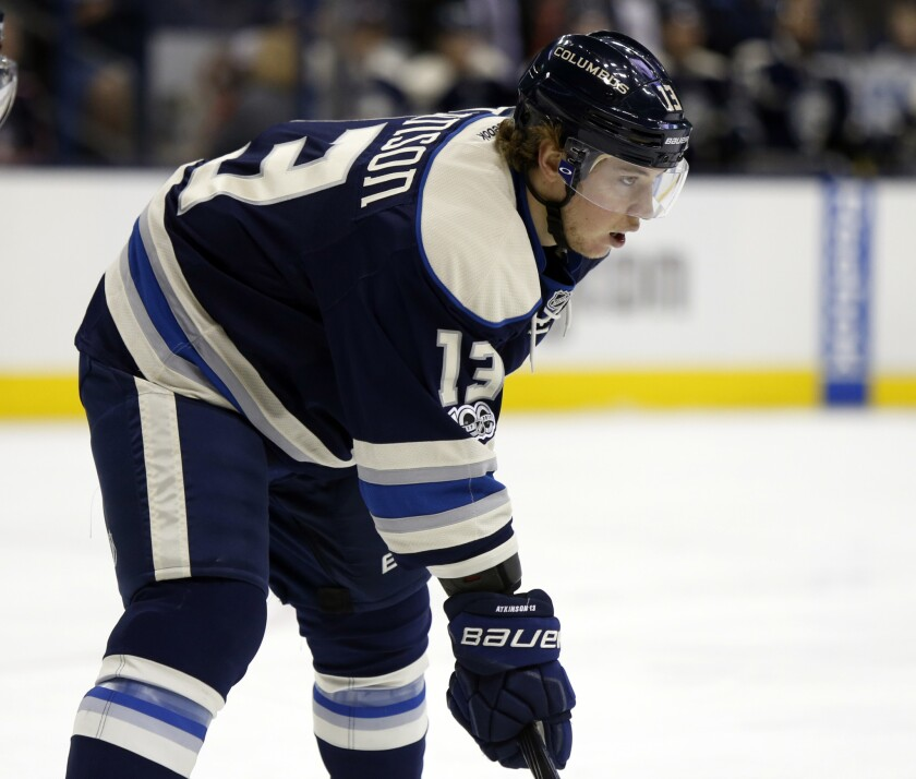 online retailer 9a864 5b830 Blue Jackets' Cam Atkinson will replace Penguins' Evgeni ...