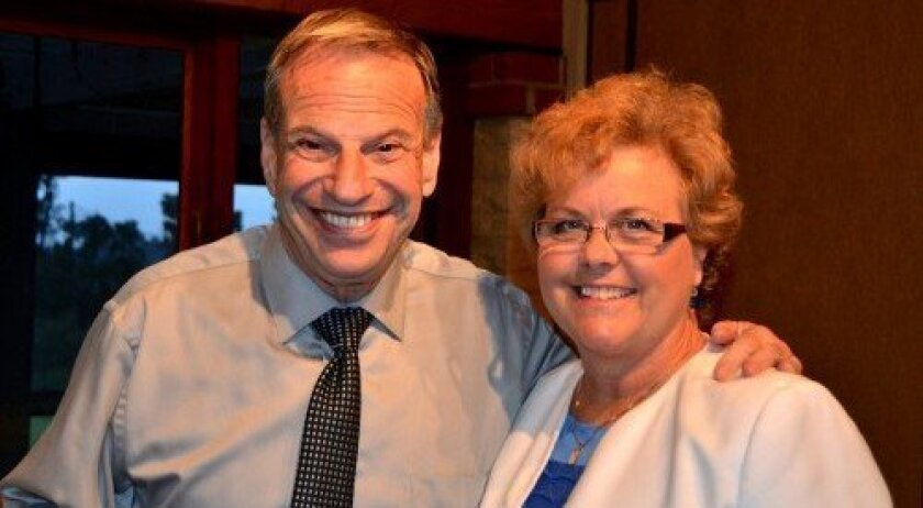 San Diego Mayor Bob Filner and Francine Busby
