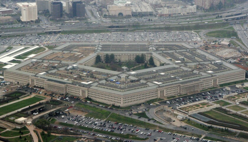 FILE - This March 27, 2008 file photo shows the Pentagon in Washington.