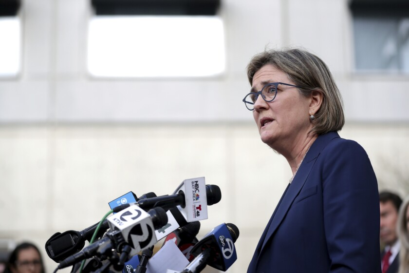 Santa Clara County Public Health Department Director Dr. Sara Cody, shown at a news conference on Feb. 28. County health officials on Thursday confirmed a second case of unknown origin of the novel coronavirus.