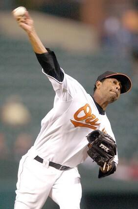 Baltimore Orioles pitcher Victor Santos