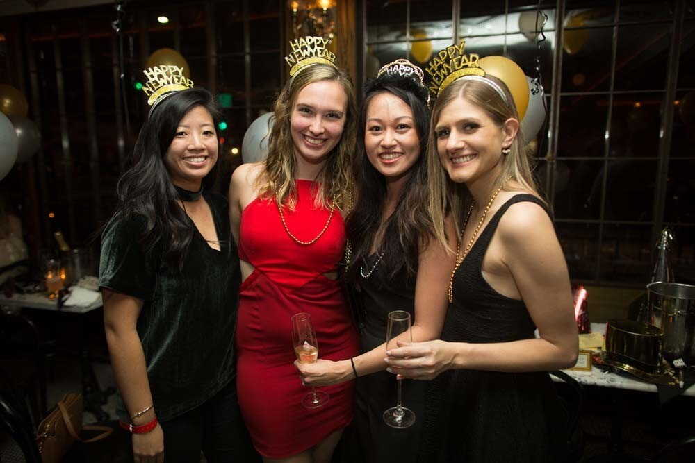 New Year's Eve revelers counted down the seconds to midnight at Polite Provisions on Sunday, Dec. 31, 2017.