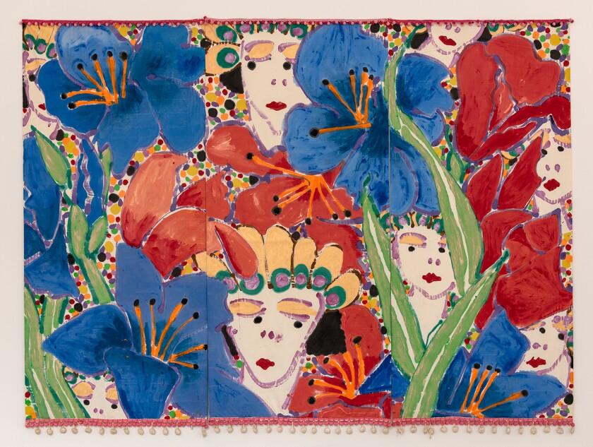 """Robert Kushner, """"Fairies,"""" 1980, acrylic on cotton"""
