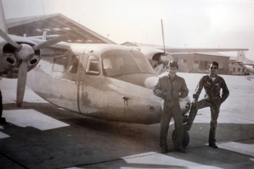Sane Chanthaphavong during his time with the U.S.-backed Royal Lao Air Force