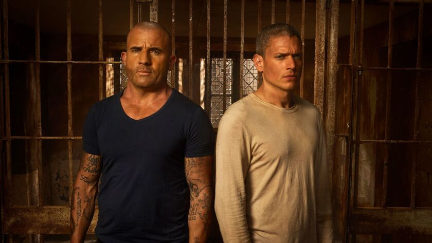 """Actors Dominic Purcell and Wentworth Miller, who return for the special nine-episode return of """"Prison Break."""""""