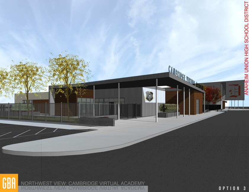 A digital rendering of the proposed Cambridge Virtual Academy home base.