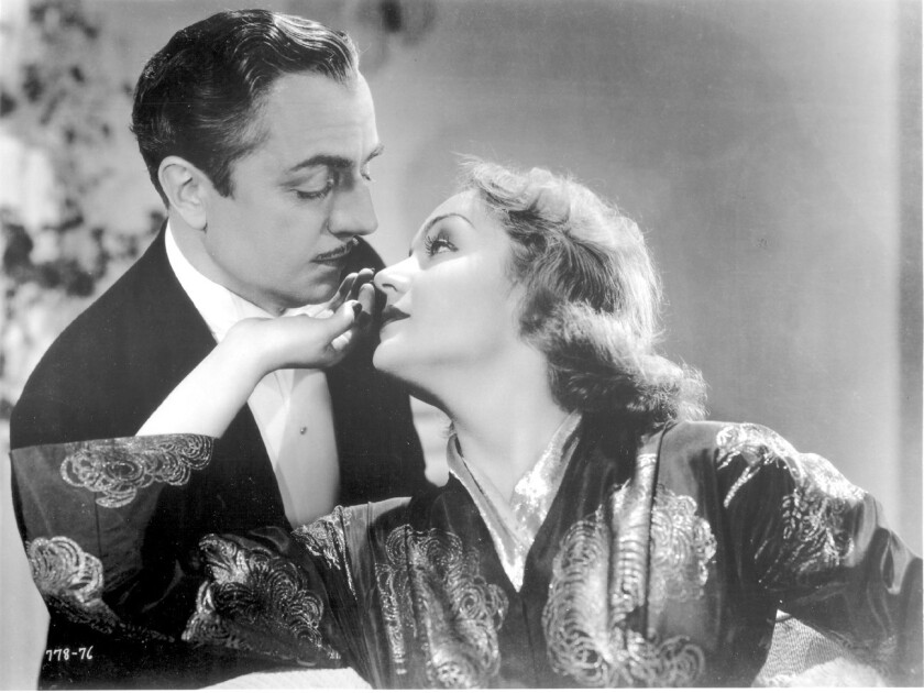 "Carole Lombard with William Powell in ""My Man Godfrey."""