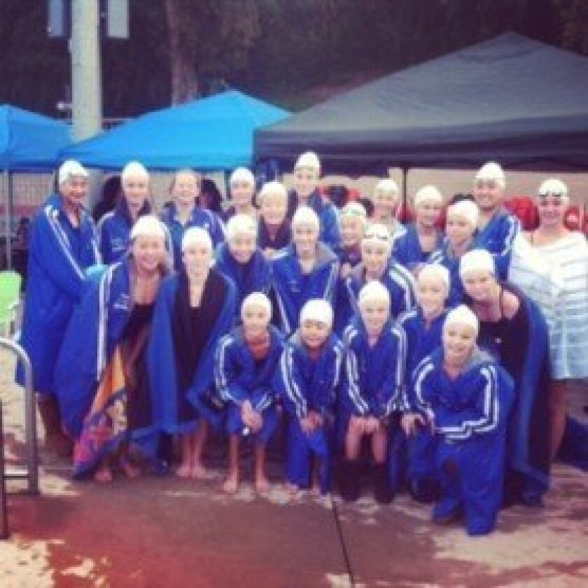 Members of the San Dieguito synchronized swim team qualified for the national championships by placing among the top three finishers at the regional championships last month, which featured top athletes from Southern California.