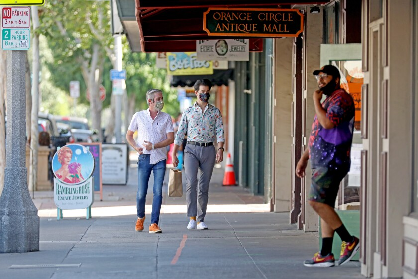 Shoppers were out Thursday at the Orange Circle Antique Mall in Orange on Thursday.