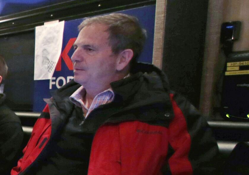 John Weaver on a campaign bus