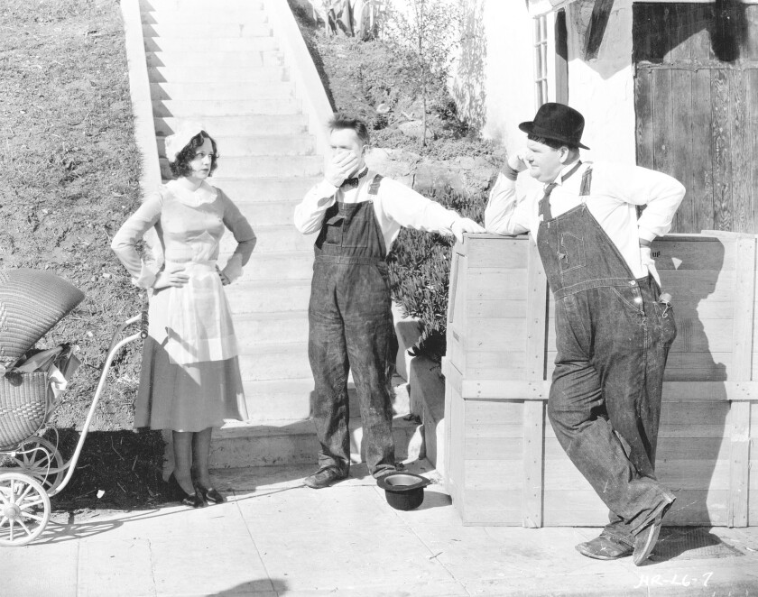 "Stan Laurel and Oliver Hardy starred in ""The Music Box"" (1932). It was filmed between 923 and 937 Vendome Street in Los Angeles."