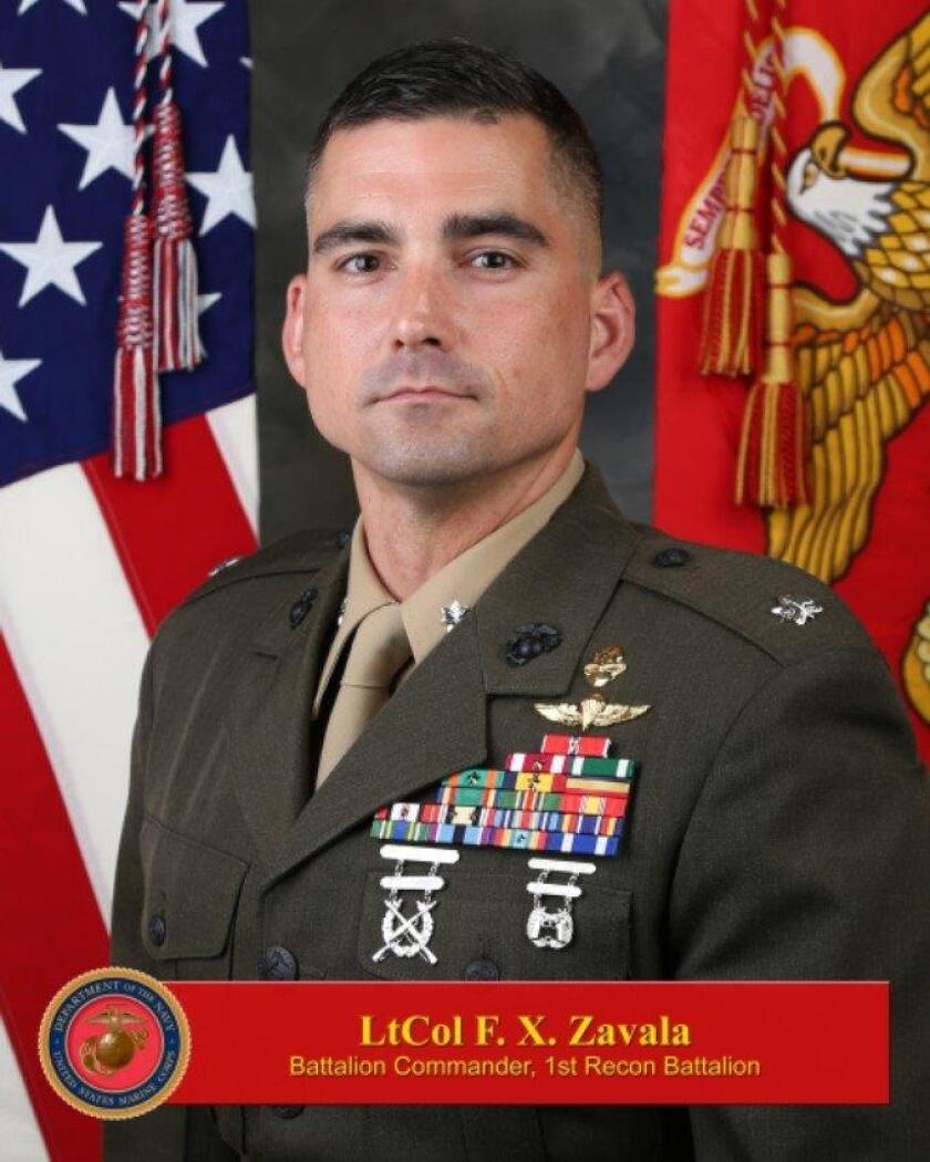 Marine Lt. Col. Francisco Zavala