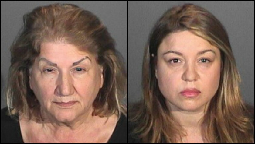 Goar Davtyan, 67, left, and her daughter, Alina Davtyan, 41, were sentenced to probation for a fatal hit-and-run in Glendale last year.