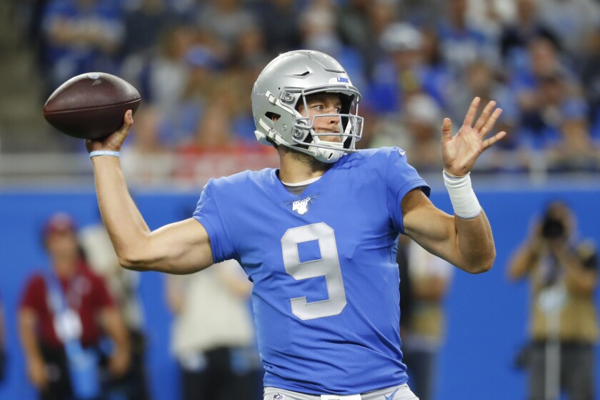 Detroit Lions quarterback Matthew Stafford was put on the reserve/COVID-19 list by the Lions