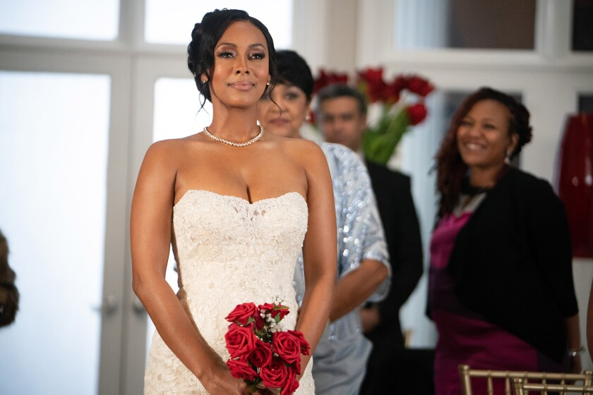 """Actor Keri Hilson is a bride in a scene from the Lifetime TV movie """"Lust: A Seven Deadly Sins Story"""""""
