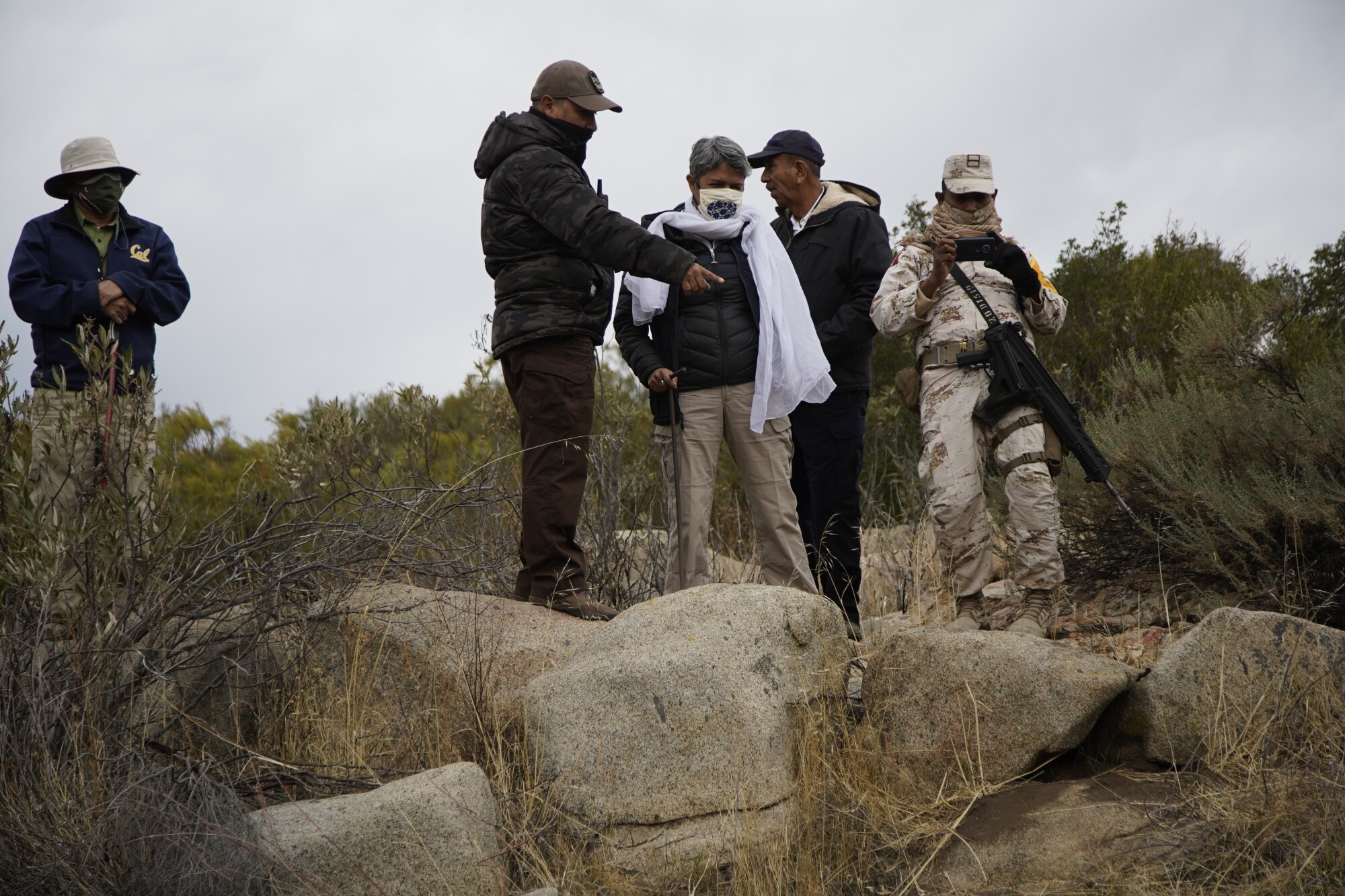 State and national officials search for the remains of the missing.