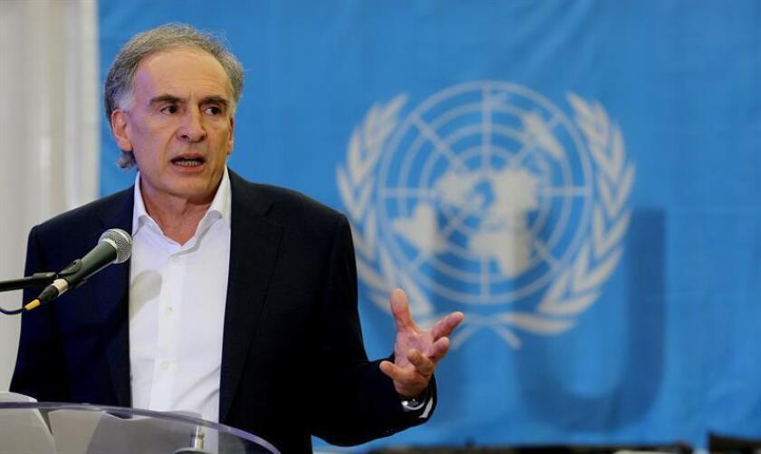 La ONU reclamó hoy medidas ante los repetidos asesinatos de líderes sociales y de antiguos miembros de las FARC en Colombia y acciones para responder a la difícil situación económica que viven los exguerrilleros desmovilizados. El enviado de la ONU a Colombia, Jean Arnault. EFE/ARCHIVO
