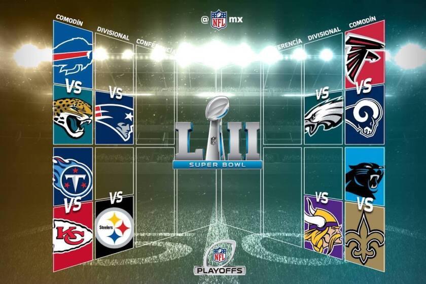Así es el camino al Super Bowl.