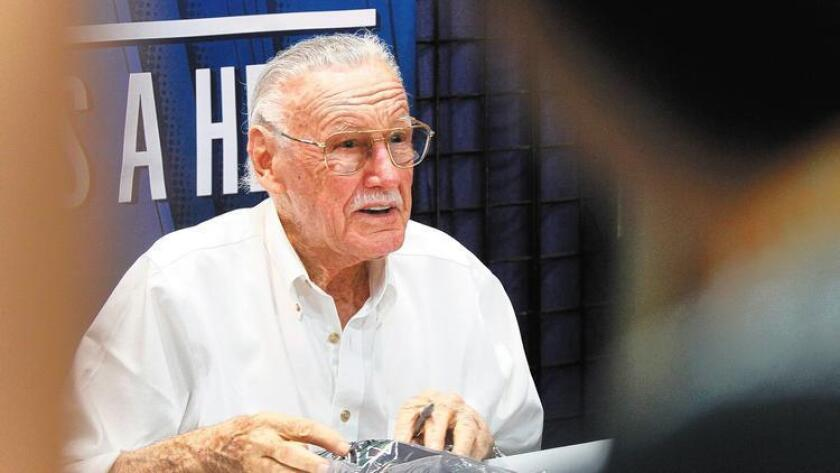 Comic book legend Stan Lee signed autographs at Comic-Con in 2012. Lee will make an appearance at this year's event at 1:45 p.m. Saturday in Room 6A. (/ K.C. Alfred)