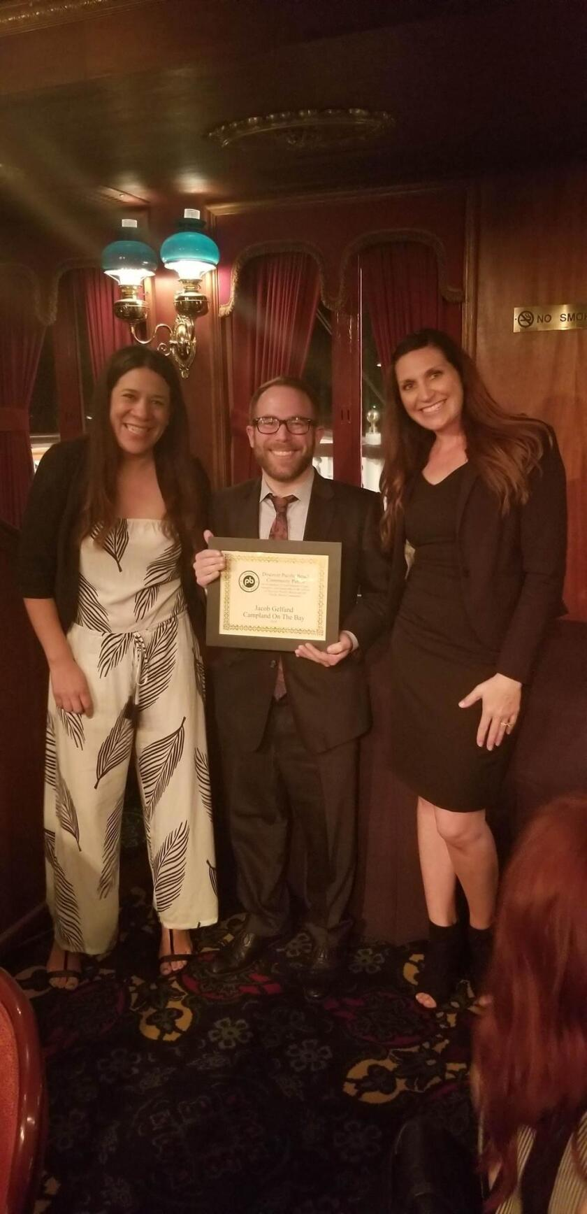 The Community Patron Award was given to Jacob Gelfand, vice president of operations at Campland on the Bay.