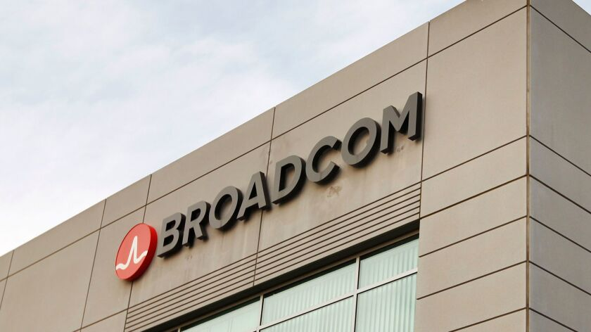 President Donald Trump announced Monday he is blocking the bid by Broadcom to acquire San Diego-based tech giant Qualcomm, citing national security issues.