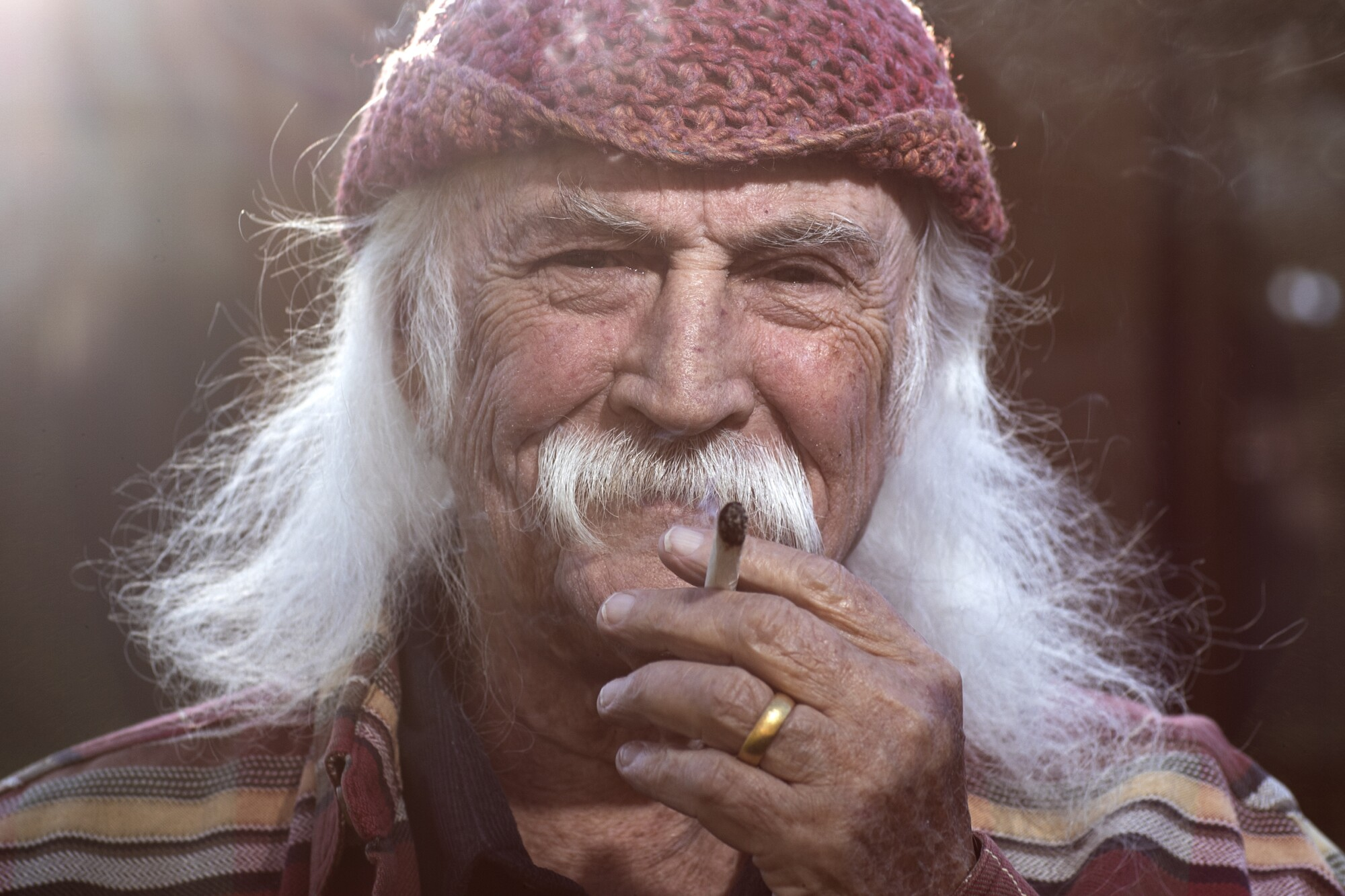 David Crosby at his home in Santa Ynez, Calif.