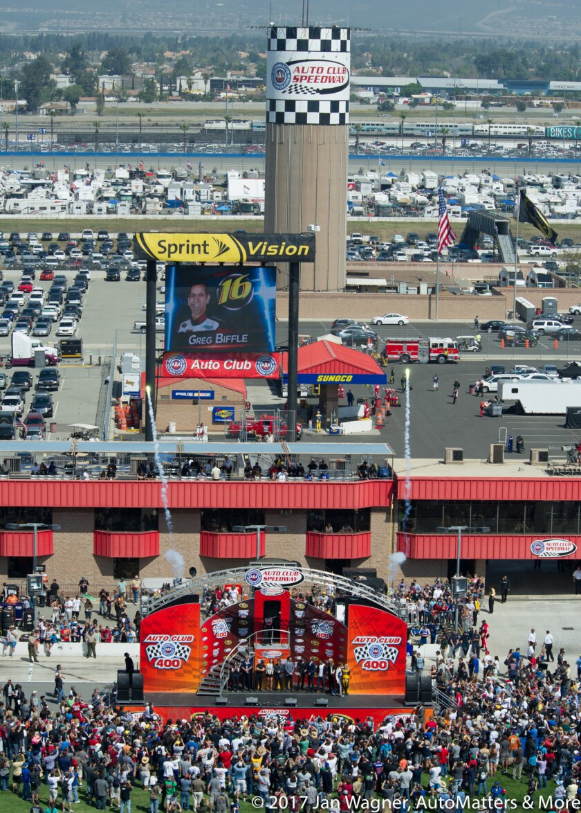 Iconic water tower (2013 Auto Club 400)