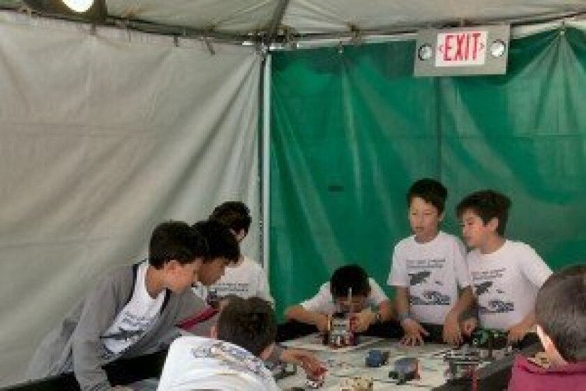 Final preparations before Legoland's FLL Sunday Cup Competition. Courtesy photos