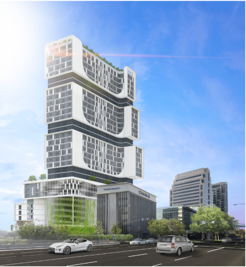 Proposed residential high-rise in downtown Glendale / Lucia Park