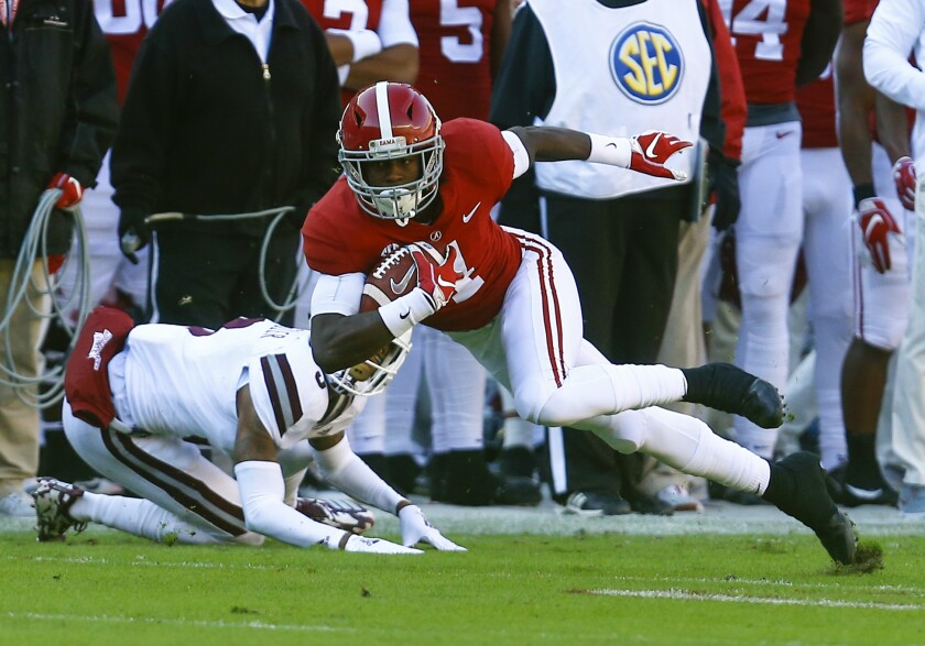 Alabama wide receiver Jerry Jeudy (4) followed his All-America selection last season by being selected an AP preseason All-American by poll voters this year.
