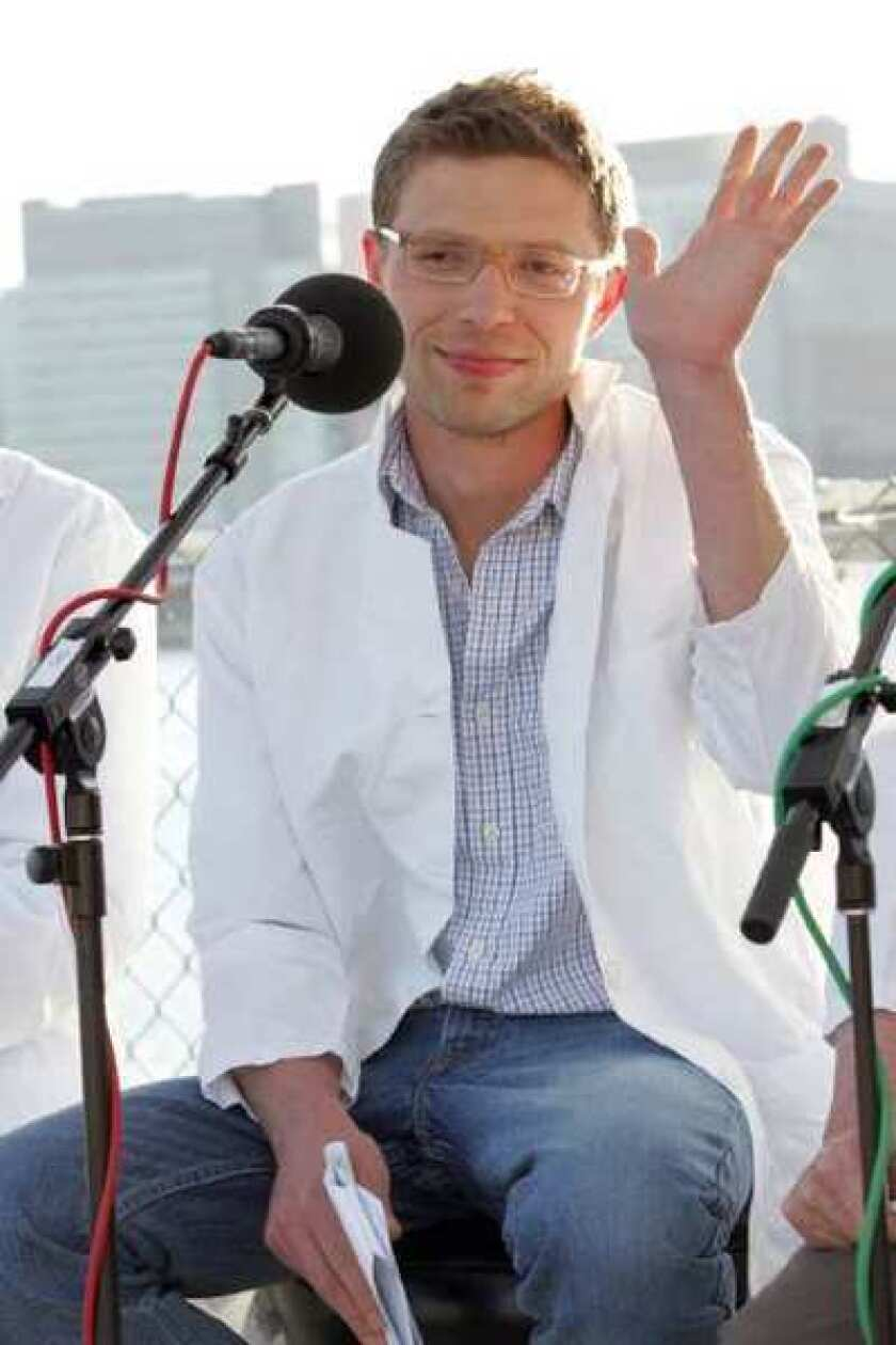 """Science writer Jonah Lehrer is seen at the """"You and Your Irrational Brain"""" panel discussion in Long Island City in 2008."""