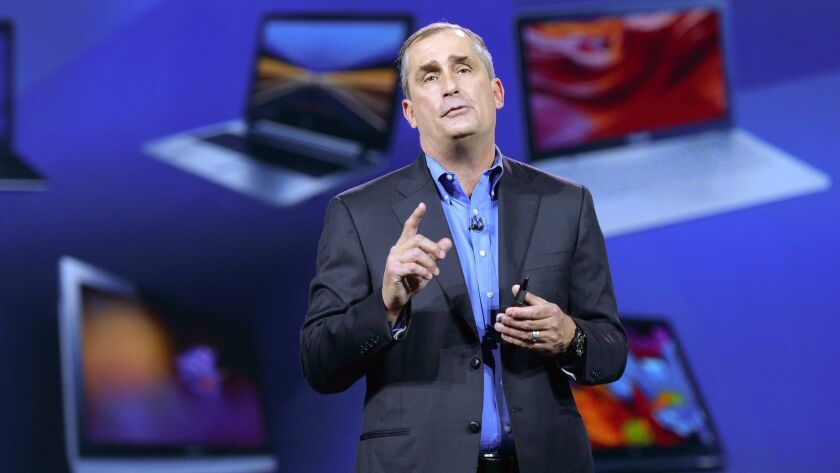 Intel Corp. CEO Brian Krzanich speaks at the 2015 International Consumer Electronics Show in Las Vegas.